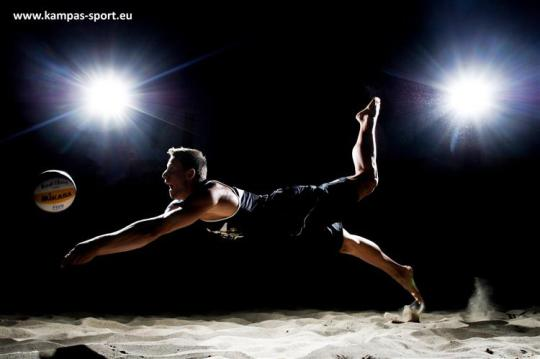 Michal Kadziola - Night Session - FIVB Beach Volleyball World Championschips 2013