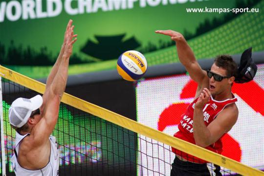 Poland vs Austria - FIVB Beach Volleyball World Championschips 2013