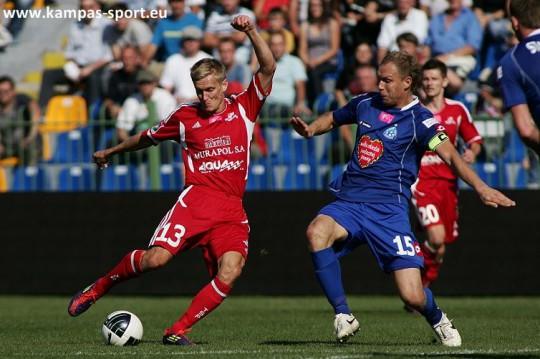 T-Mobile Ekstraklasa - Sylwester Patejuk (TS Podbeskidzie)and Rafal Grodzicki (Ruch Chorzow)